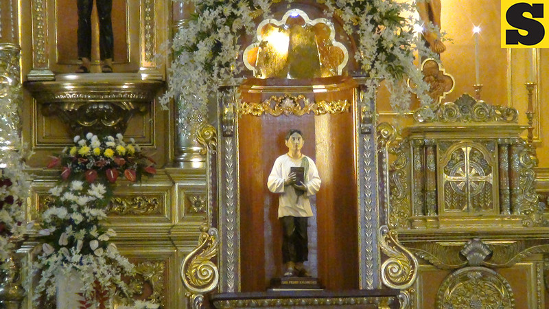 The official image of Pedro Calungsod at the Cebu Cathedral.