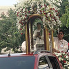 Pedro Calungsod's official image onboard a vehicle for his transfer from the Cebu Cathedral to the Mactan-Cebu International Airport. The image will be brought to Rome for his canonization on October 21, 2012. (Sunnex)