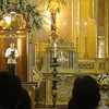 The official pilgrim image of Pedro Calungsod at the Cebu Cathedral, where a mass was held Tuesday, October 16, 2012.