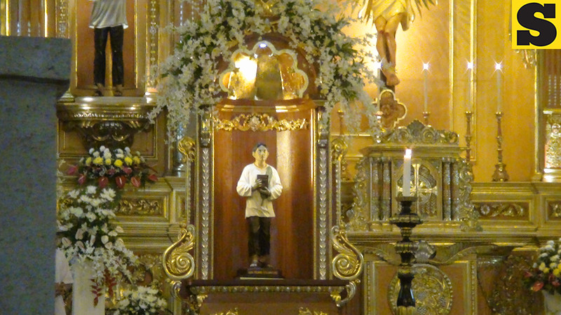 The official image of Pedro Calungsod at the Cebu Cathedral church.
