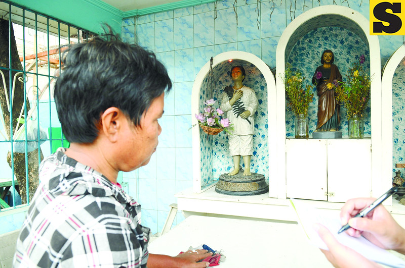 Shirley Sauceno, chapel association member, said the chapel at Pier 3 was named after St. Joseph the Worker because most of the people in the area are laborers and Beato Pedro Calungsod was named as secondary patron saint because he is Cebuano. (Sun.Star Photo/Allan Defensor)