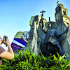 A tourist takes a picture of the bronze sculpture of Beato Pedro Calungsod, one of the sculpture seen at the Heritage shrine in Cebu. (Sun.Star Photo/Alex Badayos)