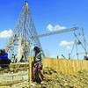 CALUNGSOD TEMPLETE. Construction of the templete at the South Road Properties in Cebu City continues. The thanksgiving mass for Pedro Calungsod sainthood will be held at this site. (Sun.Star Photo/Arni Aclao)