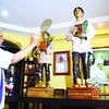 Cebu Archbishop Emeritus Ricardo Cardinal Vidal blessed the official Pedro Calungsod statue at his residence in Sto. Nino Village. (Sun.Star Photo/Ruel Rosello)