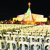 CEBU. High-ranking church and government officials, along with thousands of the Catholic faithful, are expected to fill the templete and the 27-hectare mass site today as they celebrate the canonization of the country's second saint San Pedro Calungsod. (Allan Defensor)