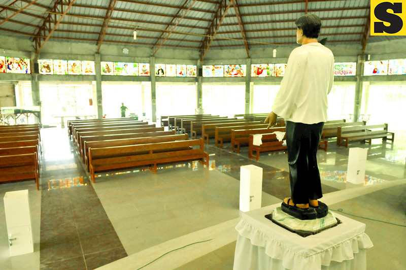 WAITING FOR HIS FLOCK.A chapel in Cantabaco, Lutopan, Toledo City is named after future Cebuano saint Pedro Calungsod. A life-size image stands at the altar of the chapel. (Sun.Star Photo/Alex Badayos)