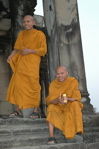 Monks Angkor Wat, Cambodia