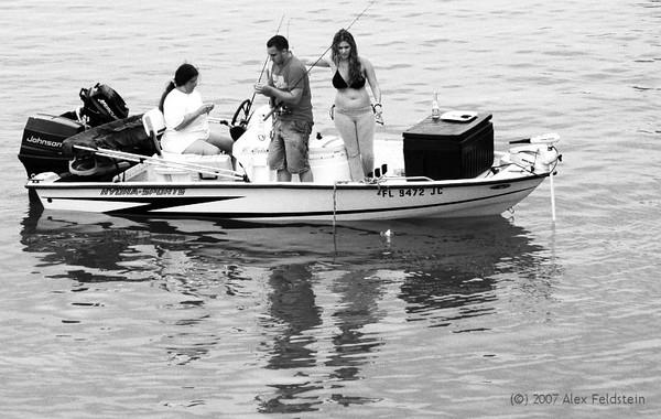 Crowded fishing