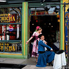 Gaucho dancers. End of a performance. La Boca, Buenos Aires