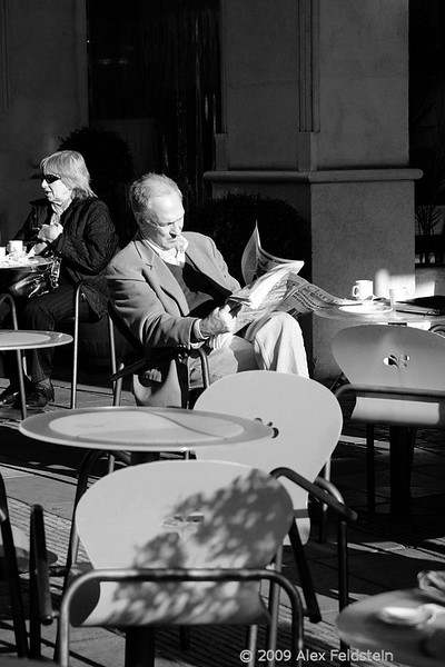 Late fall on a sidewalk cafe in Buenos Aires