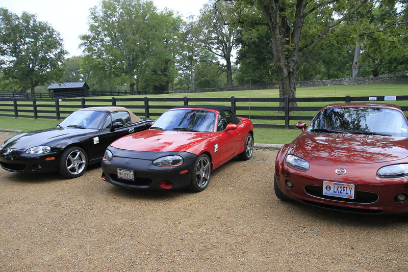 our cars at Belle Meade Plantation, TN.