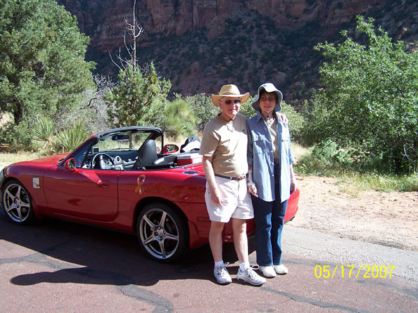 Jim and Kathi on Burr Trail - a beautiful canyon road in Utah