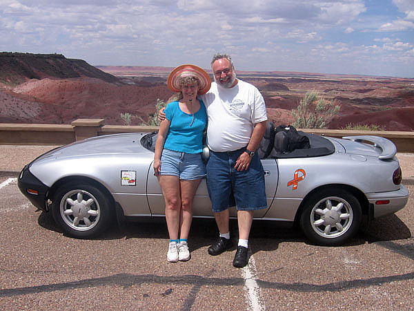 Cyndy and David at Painted Desert National Park