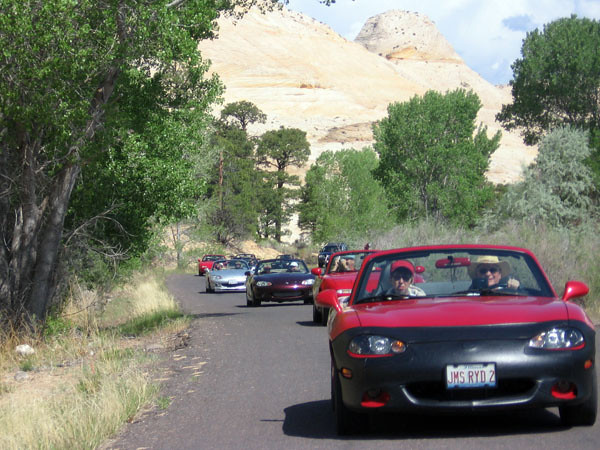 Riding with the Miatafun group from southern California