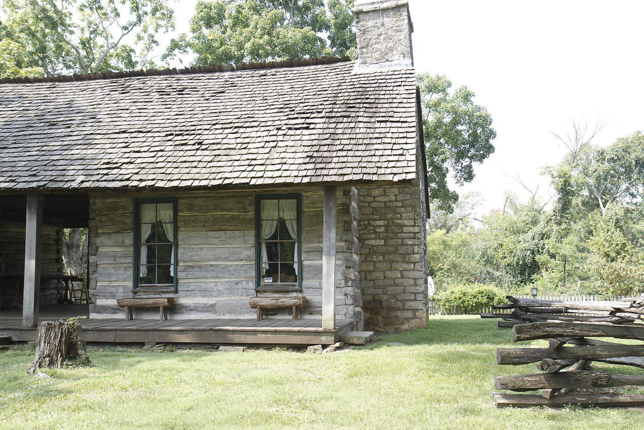 The original home (dog trot) prior to the building of the mansion.