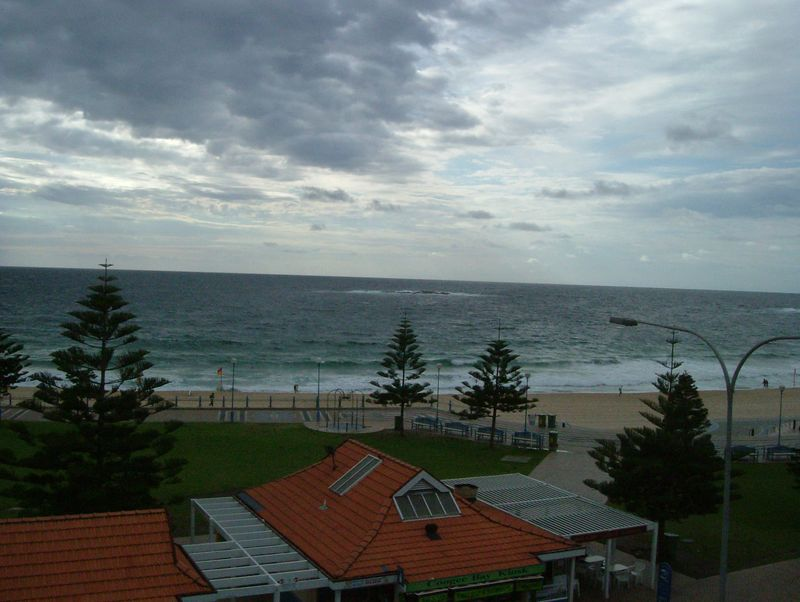 2004-11-08 Coogee Beach, Australia. My view of the beach from the hostel.