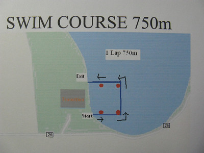 It's a half-mile swim - if you can keep to the course amid all the splashing. :)