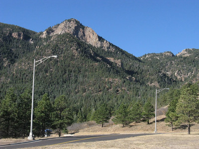 Eagle Pk (9368') from USAFA Visitor Center parking lot. More info here: ... http://www.summitpost.org/eagles-peak/155293