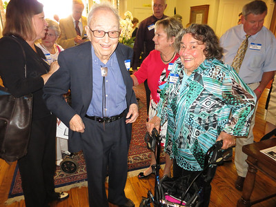 Glen, the Centenarian, with his sister June Dawson McKeon on right.