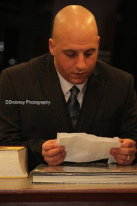 Dillon studying his vows - I thought he looked a bit like a newscaster!  Such a great guy!  ;-)