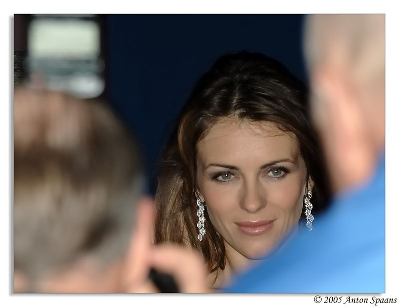 Elizabeth Hurley<br/> She was presenting the breast-cancer awareness event in Boston (6 Oct. 2005) in front of the Prudential Center.