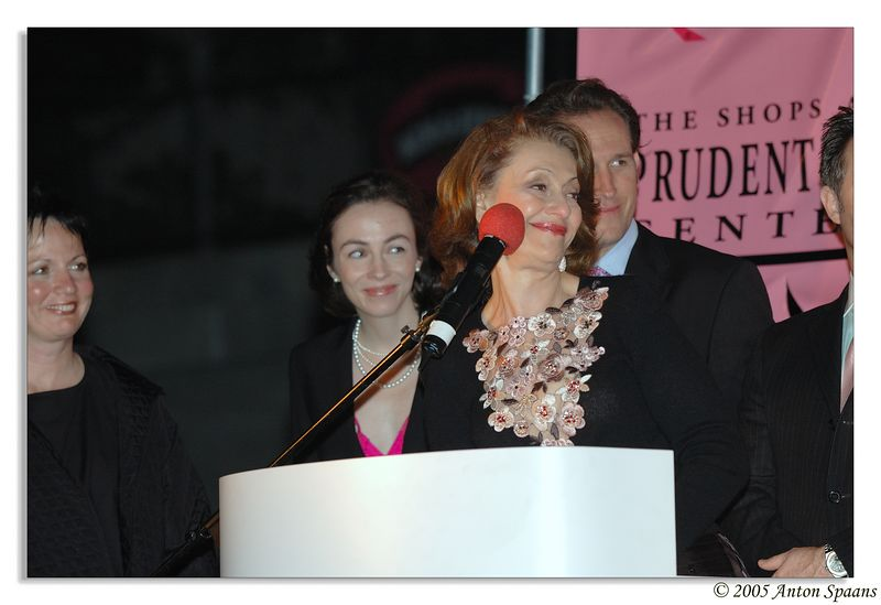 """<a href=""""http://www.evelynlauder.com/"""">Evelyn Lauder</a><br/> She is of the Estee Lauder family and leading this breast-cancer awareness campaign."""