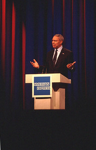 Colin Powell, speaking on May 18, 2000 at the annual American Express convention in Honolulu, Hiawai.