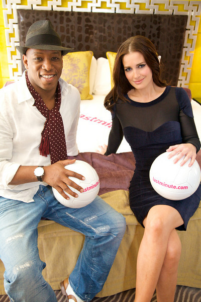 Ian Wright & Kirsty Gallagher