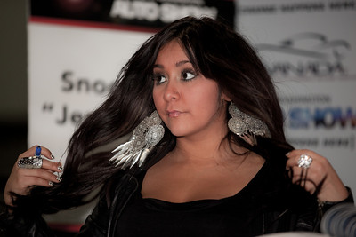 "Nicole ""Snooki"" Polizzi  makes a public appearance at the Washington DC Auto Show on January 31, 2011.  Polizzi is a cast member on MTV's reality show Jersey Shore. (Photo by Jeff Malet)"