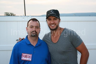 Me and Country music artist Luke Bryan 8/31/11 at Shenandoah county fair - 9/6/11
