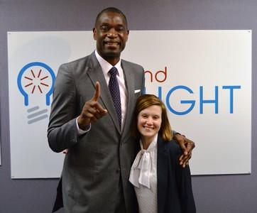 Dikembe Mutombo and Jessica Metzger
