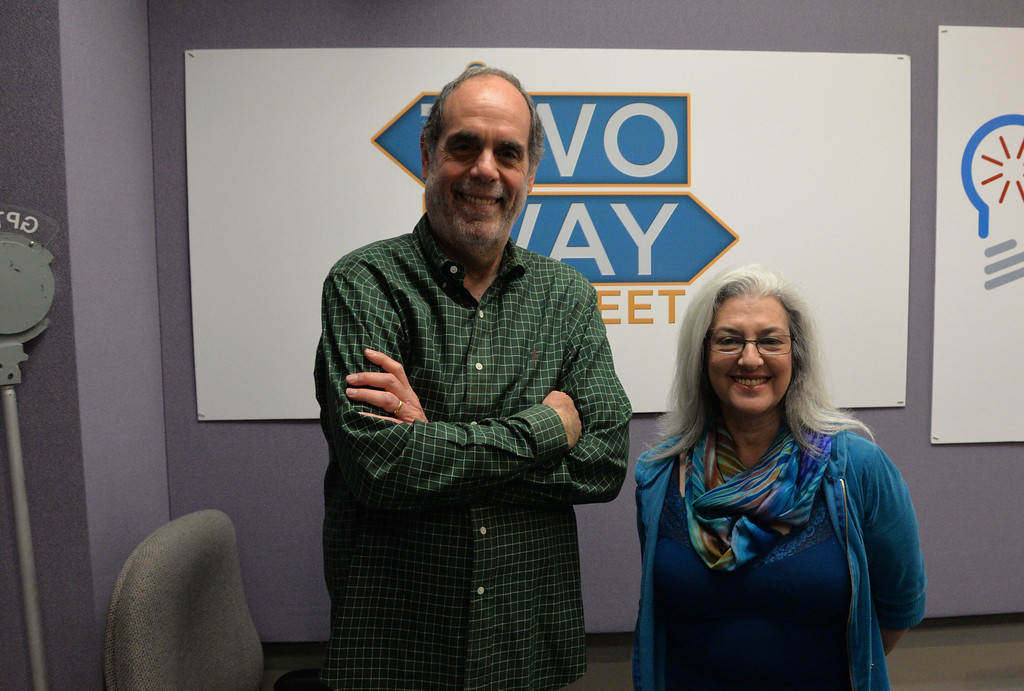 "Bill Nigut with Kathleen Mc Manu- Director of ""The Artist Man and the Mother Woman"""