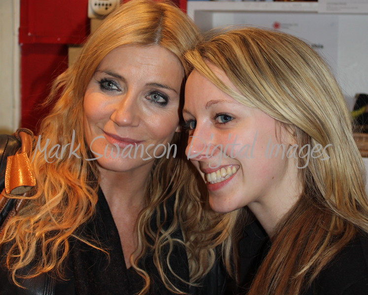 9267a Michelle Collins ( Calender Girls) with Emma, Cambridge Arts Theatre