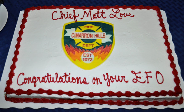 Chief Love's Ceremony for Executive Fire Officer