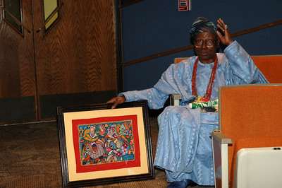 Chief Oloruntoba art has been collected by Queen Elizabeth II, David Rockefeller, and Muhammad Ali.