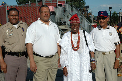 The Big Chief's in Wichita: Chief Norman Williams, Mayor Carl Brewer, Chief Oloruntoba, and Chief Garica.