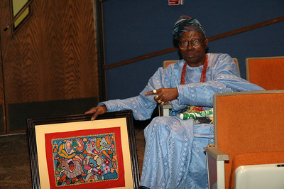 Chief Oloruntoba is an artist whose work has been exhibited by the Musuem of Modern Art.