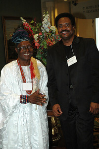 Chief Oloruntoba and Michael Bruce