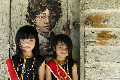 Bidayuh Longhouse, Annah Rais, Sarawak, Borneo
