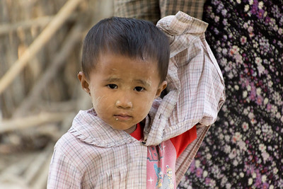 in a village, Myanmar