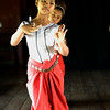 Girl learning classic Kmer dance at Apsara Art Association in Phnom Penh - very elegant posture