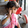 Little girl at local market in Sihanoukville.
