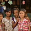 Girls at an English school in a small dusty town in northern Cambodia. We chatted with them in English for an hour as their class of the day.