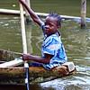 Girl Rowing a Piroque