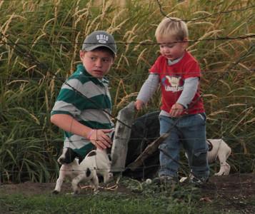 Little boys & Puppies