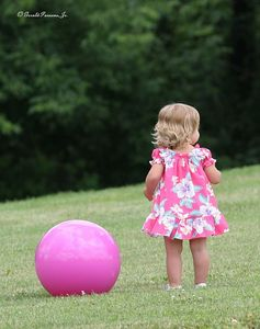 """Pinkie & Her Ball""  - Paw Prints Photography"
