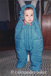 LL Bean Baby Bag - did not come with baby, that's mine, 20 years ago.