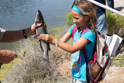 A young angler catching catfish at Outdoor Adventure Days. Photo by Mike Christensen, Utah Division of Wildlife Resources.