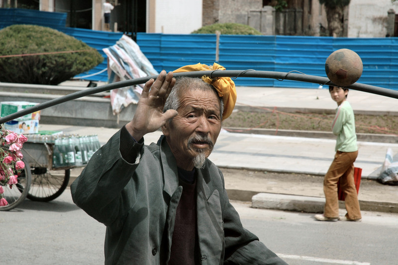 Huxian village eccentric - Central China<br /> <br /> ©Gerald Diamond<br /> All rights reserved
