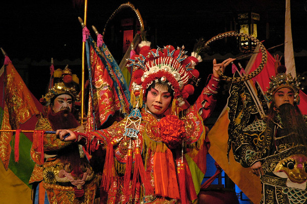 Leading lady in the highly-stylized Beijing Opera - China  ©Gerald Diamond All rights reserved